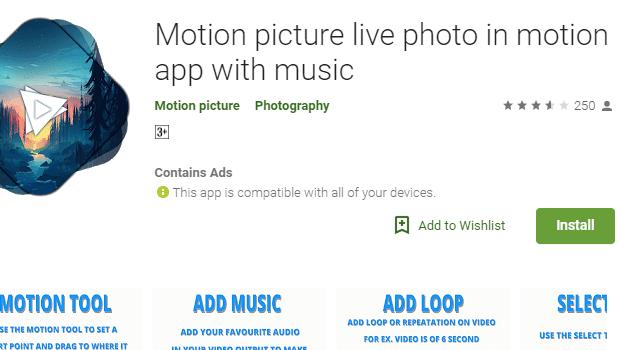 Aplikasi Foto Bergerak