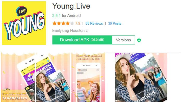 Young live mod Apk Tanpa Koin Premium