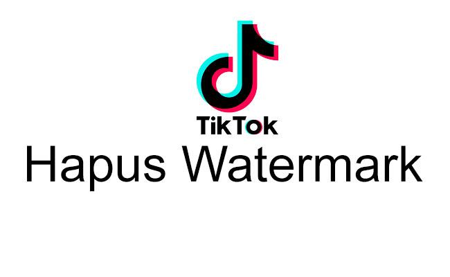 Cara Menghilangkan Watermark TikTok