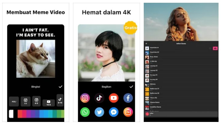 Aplikasi Vibe: Music Video Maker, Effect, No Skill Need